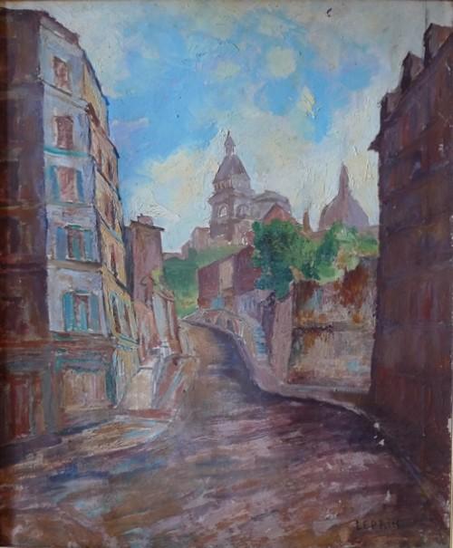 Défiscaliser avec les œuvres de Marcel LEPRIN, rues de village