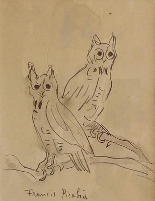 Défiscaliser avec les lithographies de Francis PICABIA - Les chouettes
