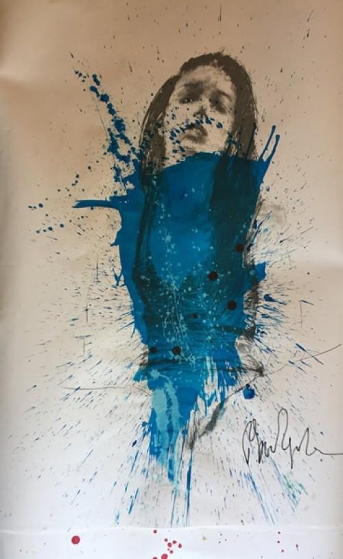 Défiscaliser avec les œuvres de Philippe PASQUA - Femme bleue