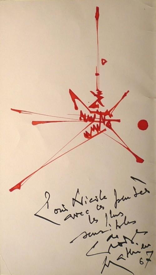Défiscaliser avec les œuvres de Georges MATHIEU, peinture