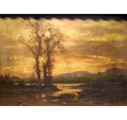 Alexandre GITTARD, huile sur panneau, 1885