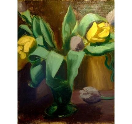 Amédée Dubois de La Patelliere, fleurs jaunes