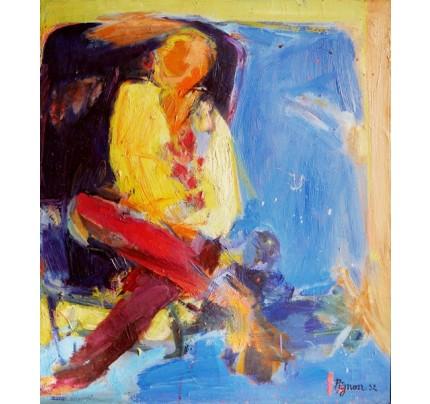 Edouard PIGNON, femme en jaune