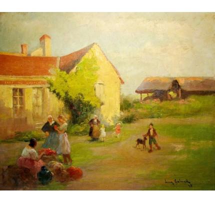Léon GALAND, journée à la campagne