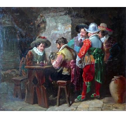 Louis GONTIER, mousquetaires à l'auberge