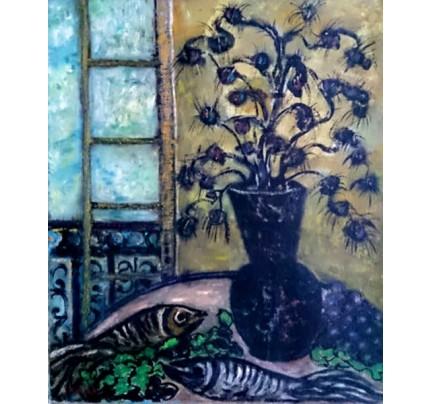 Nicolas ISSAIEV, fleurs bleues