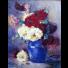 Blanche ODIN, bouquet, Peinture