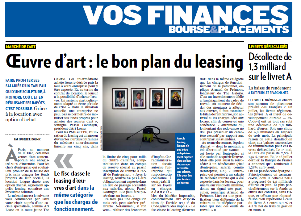 ARTLEASING.FR oeuvre d'art : le bon plan du leasing
